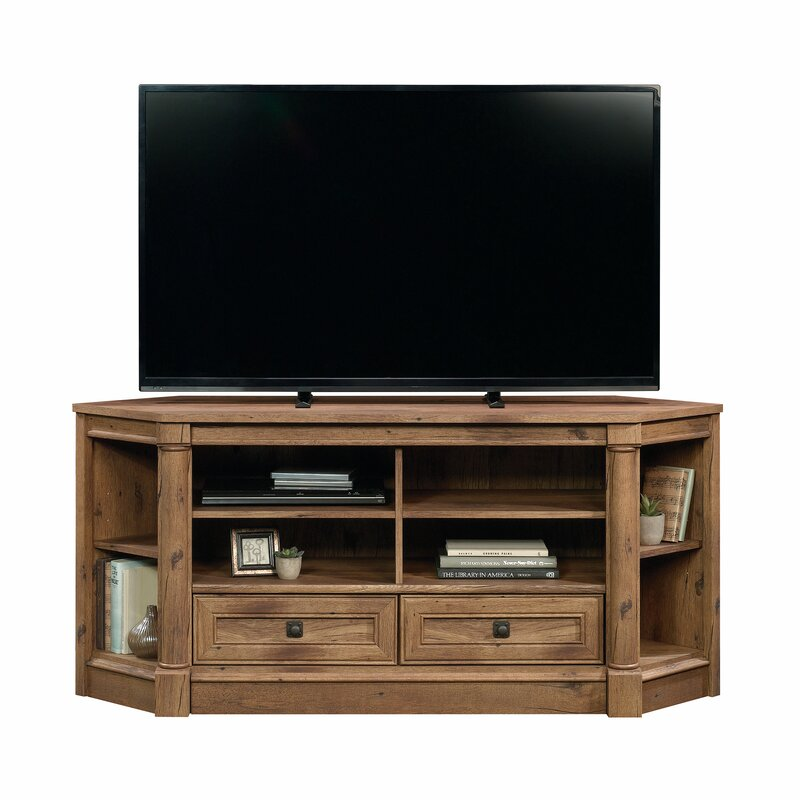 orviston corner tv stand for tvs up to 60 - Corner Flat Panel Tv Stands