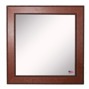 Kimzey Western Rope Wall Mirror by Charlton Home