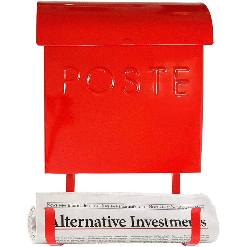Euro French Poste Wall Mounted Mailbox