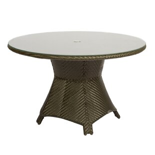 Trinidad Round Umbrella Dining Table by Woodard 2019 Sale