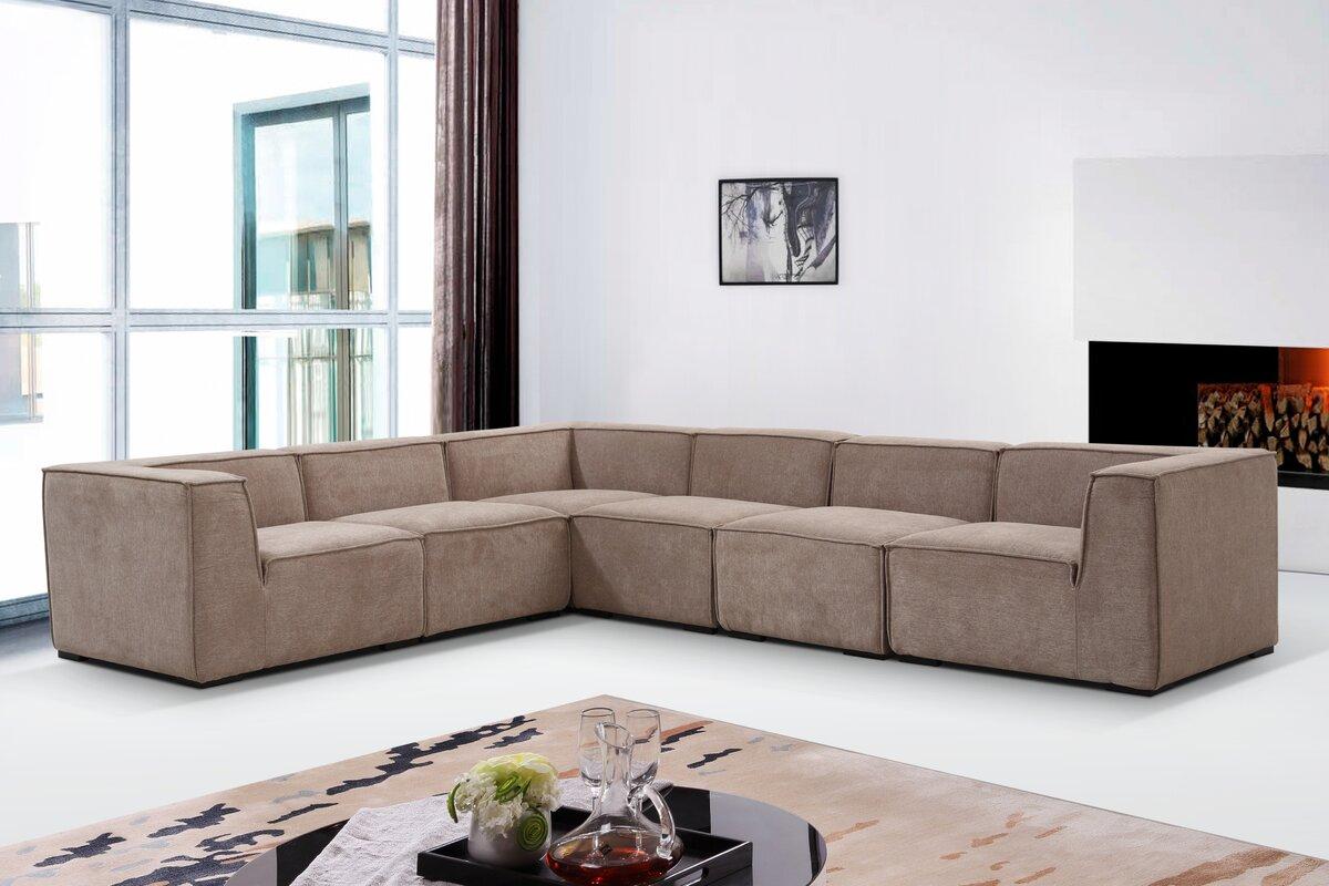 Hasegawa Fabric Modern Modular Sectional : modern modular sectional - Sectionals, Sofas & Couches