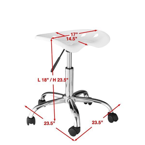 Ebern Designs Girdler Height Adjustable Lab Stool Reviews Wayfair