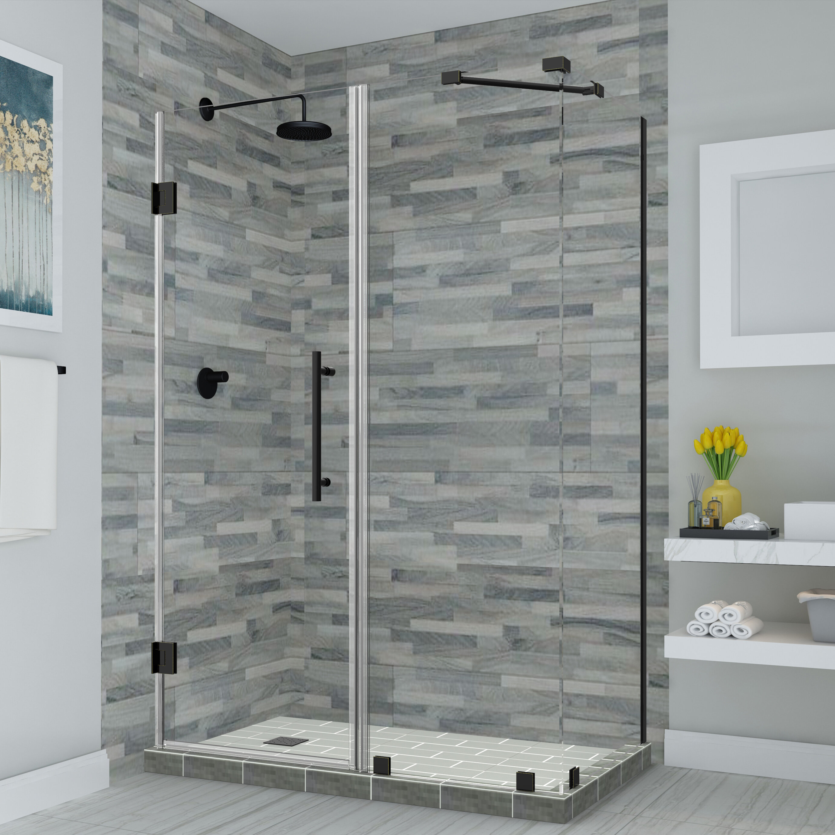 Aston Bromley 32 X 72 Rectangle Hinged Shower Enclosure Wayfair