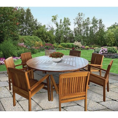 Gosling 9 Piece Teak Dining Set by Rosecliff Heights New