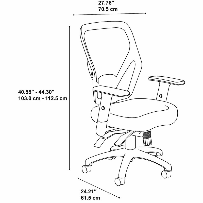 Bush Business Furniture Corporate Mid Back Multi Function Ergonomic