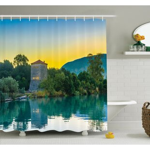 Nature Sunrise at Lake Asian Shower Curtain Set