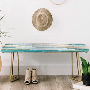 East Urban Home Iveta Abolina Faux Leather bench