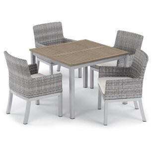 Brayden Studio Saleh 5 Piece Dining Set with Cushions