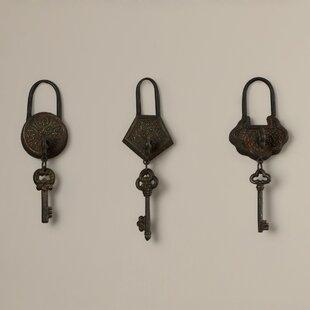 Charmant 3 Piece Historic Key Wall Décor Set