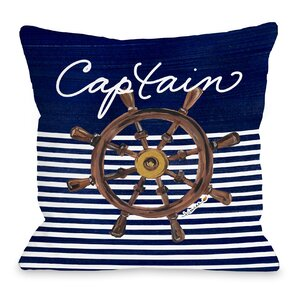Captain Wheel Throw Pillow