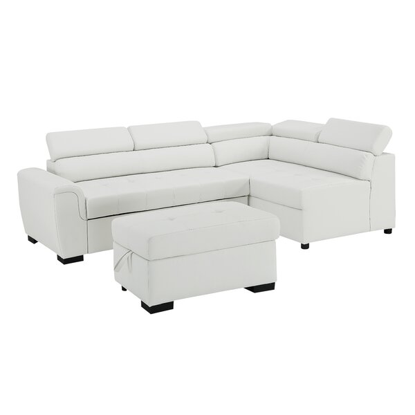Peachy Sectional With Storage Ottoman Wayfair Caraccident5 Cool Chair Designs And Ideas Caraccident5Info