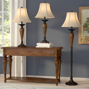 Darby Home Co Torian 3 Piece Table and Floor Lamp Set