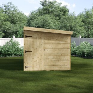 7 Ft. W X 14 Ft. D Shiplap Pent Wooden Shed By WFX Utility