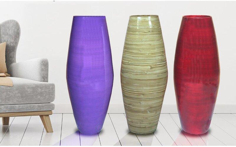 Bloomsbury Market Tall Cylinder Bamboo Floor Vase Wayfair