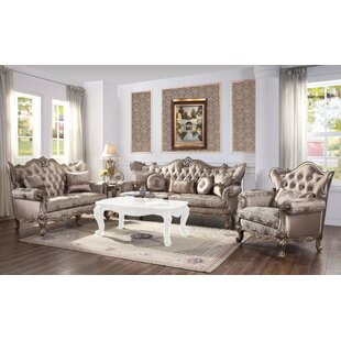 Teixeira 3 Piece Standard Living Room Set by Rosdorf Park