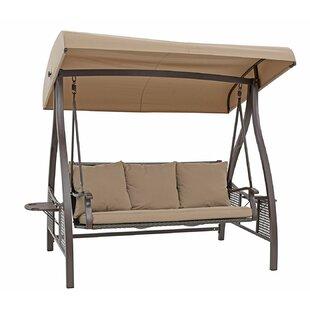 Freeport Park Spaulding 3 Seat Outdoor Porch Swing