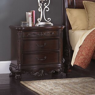 Astoria Grand Chalus 2 Drawer Nightstand