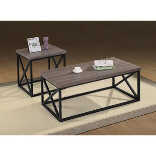 Branden Wooden 3 Piece Coffee Table Set