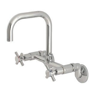 Kingston Brass Concord Adjustable Wall Mount Bridge Faucet