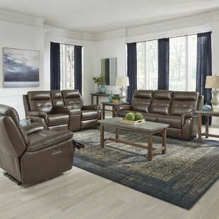 Reviews Sasheer Power Motion Reclining 3 Piece Leather Living Room Set by Latitude Run Reviews (2019) & Buyer's Guide