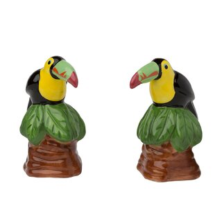 Orion Toucan Ceramic 2 Piece Salt and Pepper Set