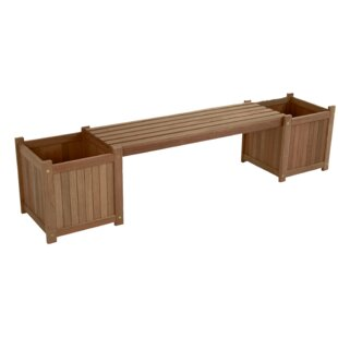Check Price Wooden Planter Bench