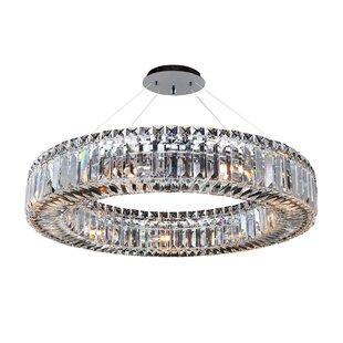 Allegri by Kalco Lighting Rondelle 9-Light Crystal Chandelier