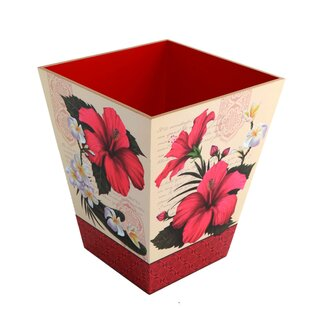 TSC Giftables Hibiscus Blossom Waste Basket