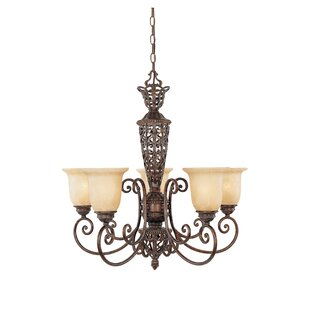 Fleur De Lis Living Claverack 5-Light Shaded Chandelier