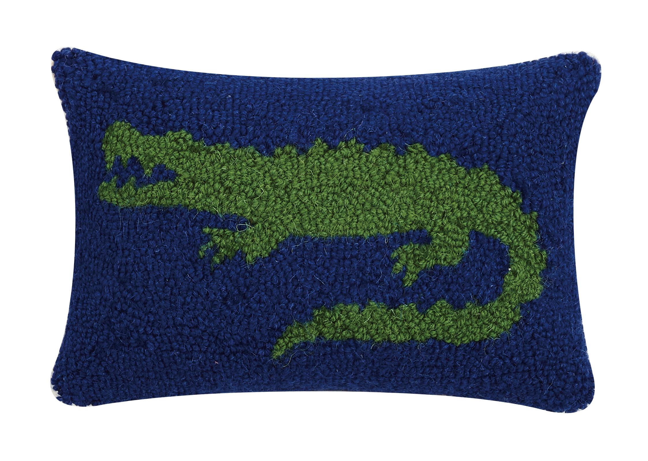 Ebern Designs Grigor Alligator Hook Wool Lumbar Pillow Wayfair
