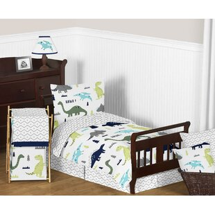 Mod Dinosaur 5 Piece Toddler Comforter Set