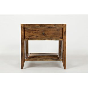 Cano Transitional Wooden End Table