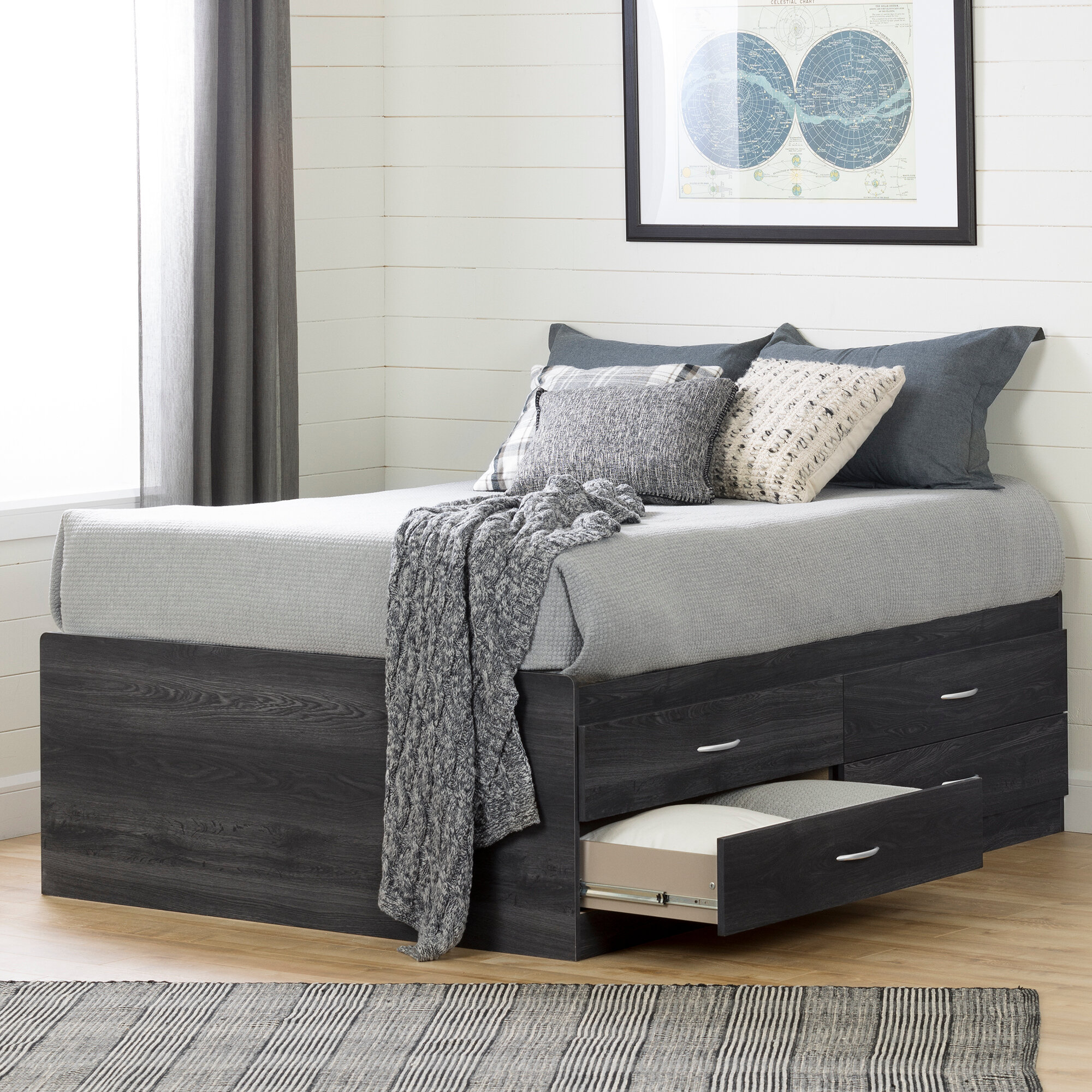 Beau Extra High Platform Bed   Wayfair