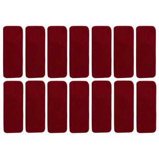 Beason Solid Red Stair Tread Set Of 14