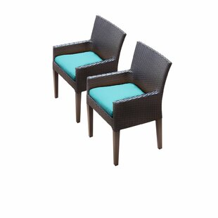 Barbados Patio Dining Chair With Cushion (Set Of 2) by TK Classics Fresh