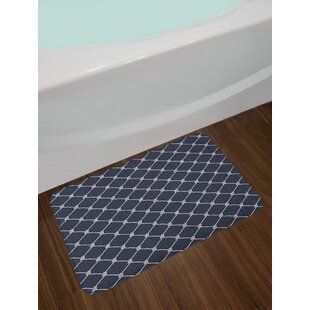 Navy Dark Blue and White Navy Blue Bath Rug