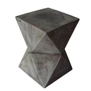Efird Outdoor Light-Weight Concrete Accent Table