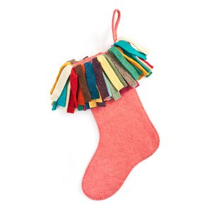 Hand Felted Wool Christmas Stocking