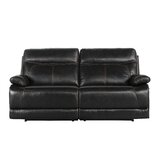 Roesch Leather Reclining Loveseat by Red Barrel Studio®
