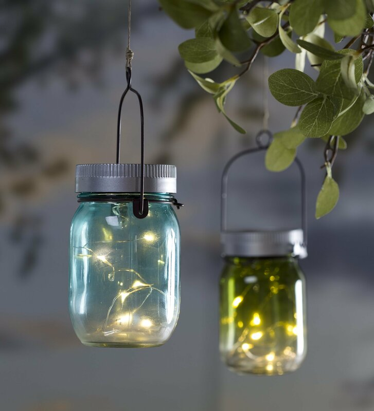 Mason jar solar light lantern