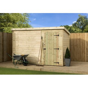 Read Reviews 9 Ft. W X 4 Ft. D Shiplap Pent Wooden Shed