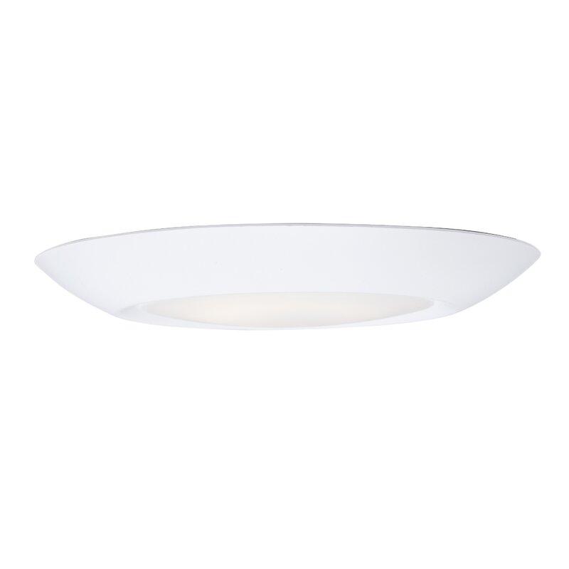 Ebern Designs Lospalmos 1 Light 7 5 Simple Circle Led Flush Mount Reviews Wayfair Ca