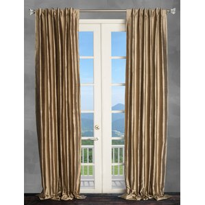 Solid Semi Sheer Thermal Rod Pocket Single Curtain Panel