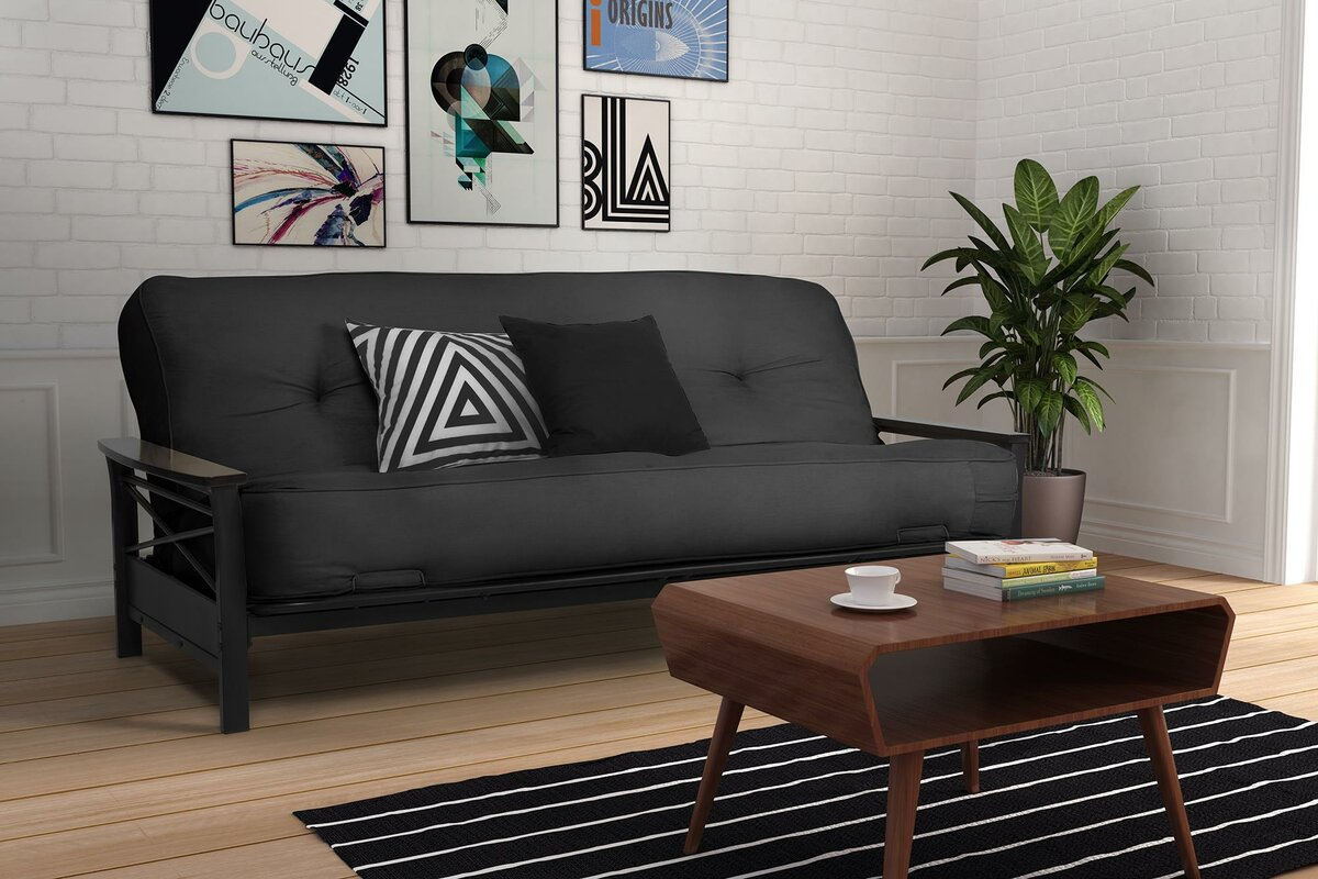 Alwyn Home Independently Encased Coil Premium 8 Full Size Futon