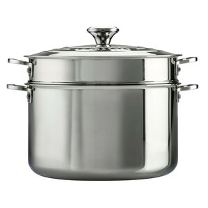 Le Creuset  Stainless Steel 9 qt Stock Pot with Lid