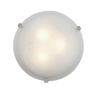 Compare Caves 2-Light Outdoor Flush Mount By Ebern Designs