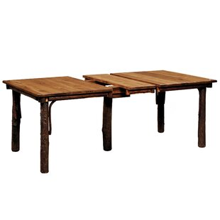 Quiles Extended Solid Wood Dining Table Loon Peak