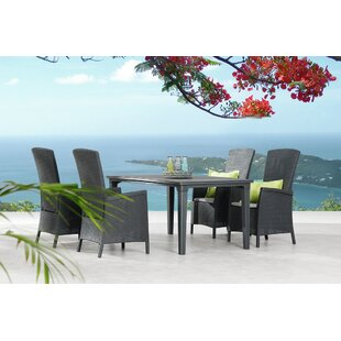 Rajnie 4 Seater Dining Set With Cushions By Sol 72 Outdoor
