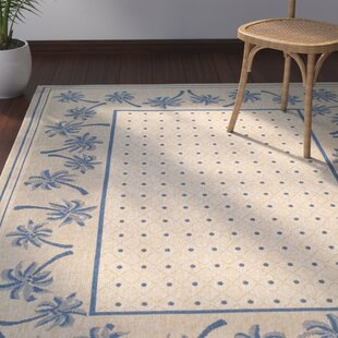 Amaryllis Ivory/Blue Indoor/Outdoor Area Rug
