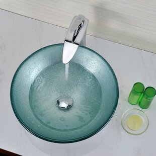 Reviews Spirito Glass Circular Vessel Bathroom Sink By ANZZI